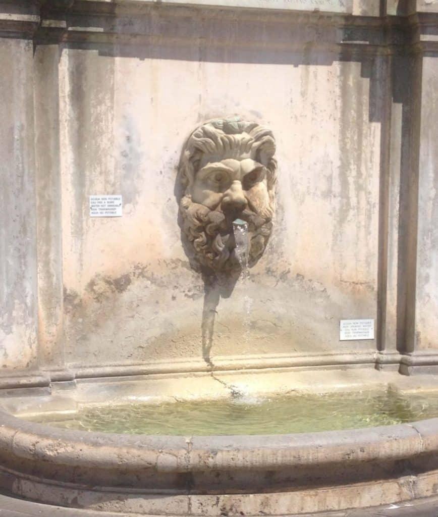 Italian water fountain