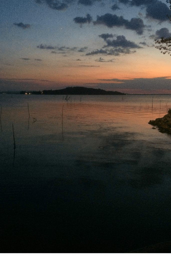 Sunset on Trasimeno