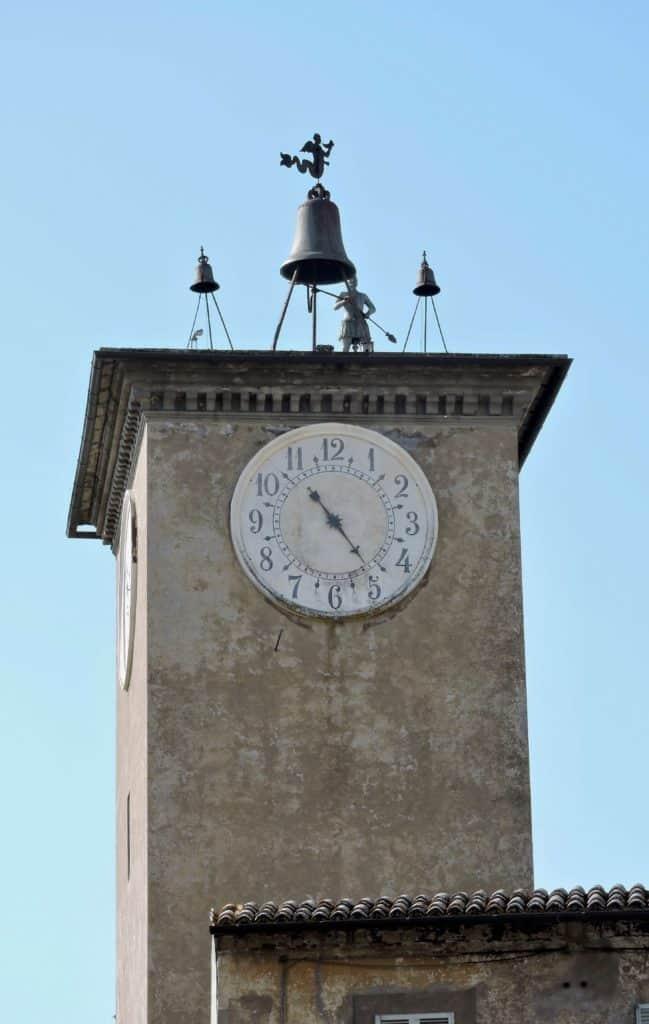 A clock in Orvieto.