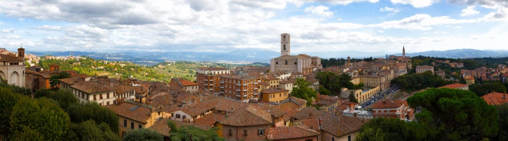 Looking out at San Domenico in Perugia.