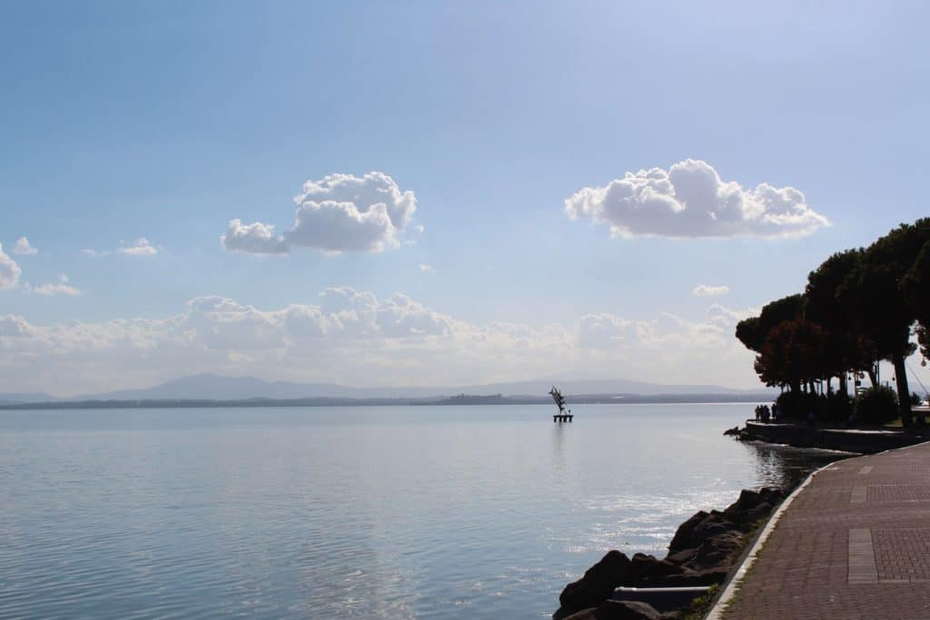 Looking out from Passignano Sul Trasimeno