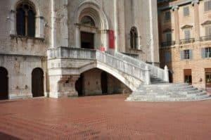 Gubbio's main piazza