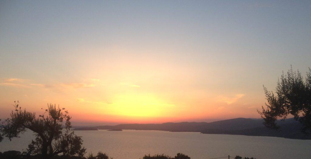 Sunset on Trasimeno Lake